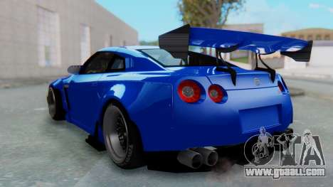 Nissan GT-R R35 Rocket Bunny for GTA San Andreas left view