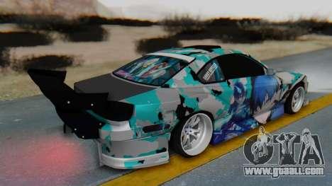 Nissan Silvia s15 Itasha [EDE-Crew] for GTA San Andreas back left view