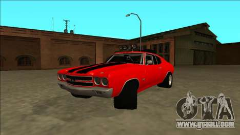 Chevrolet Chevelle Rusty Rebel for GTA San Andreas back left view