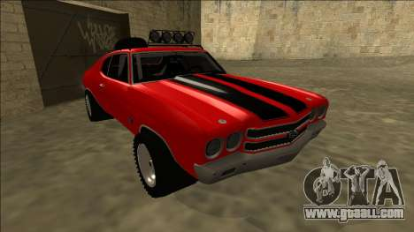 Chevrolet Chevelle Rusty Rebel for GTA San Andreas left view