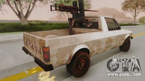 Volkswagen Caddy Military Vehicle for GTA San Andreas left view