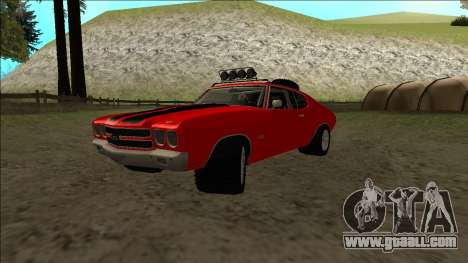 Chevrolet Chevelle Rusty Rebel for GTA San Andreas back view