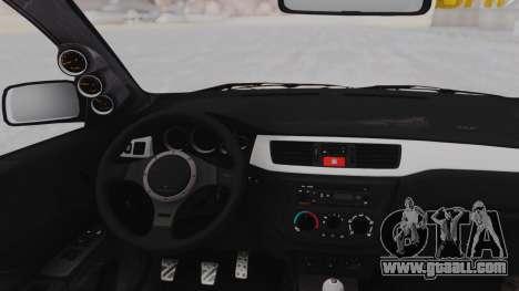 Mitsubishi Lancer Evo IX MR Tobiichi Origami for GTA San Andreas back view