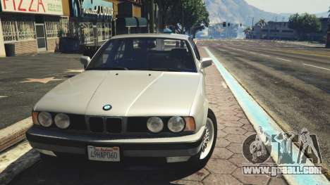 GTA 5 BMW 535i E34 rear right side view