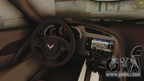Chevrolet Corvette Stingray C7 2014 Sticker Bomb for GTA San Andreas right view