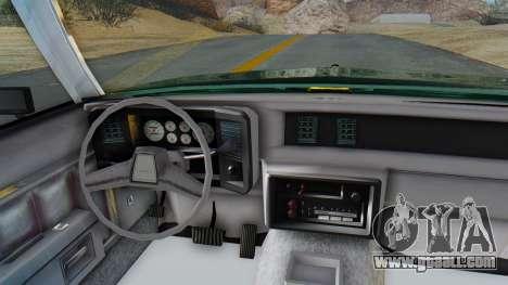 Chevrolet Malibu 1981 Twin Turbo for GTA San Andreas back view