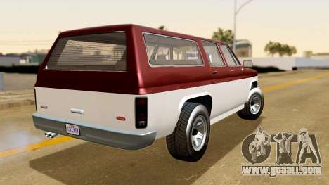 GTA 5 Declasse Rancher XL IVF for GTA San Andreas left view