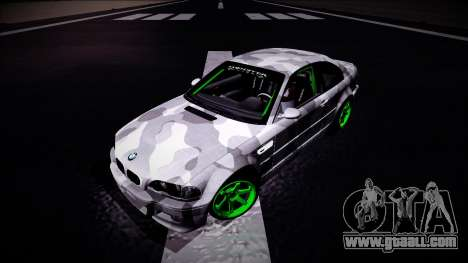 BMW M3 E46 Drift Monster Energy for GTA San Andreas back view