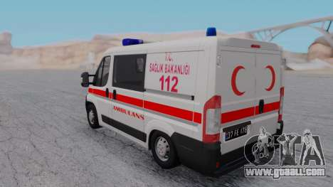 Fiat Ducato Turkish Ambulance for GTA San Andreas right view