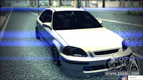 Honda Civic by Snebes for GTA San Andreas back view