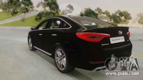 Hyundai Sonata Turbo 2.0 2015 V1.0 Final for GTA San Andreas left view