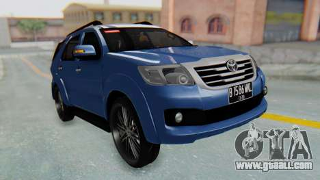 Toyota Fortuner TRD Sportivo Vossen for GTA San Andreas right view