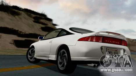 Mitsubishi Eclipse GST 1995 for GTA San Andreas back left view