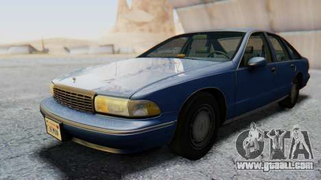 Chevrolet Caprice 1993 for GTA San Andreas back left view