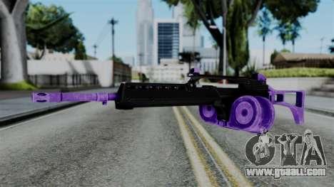 Purple M4 for GTA San Andreas