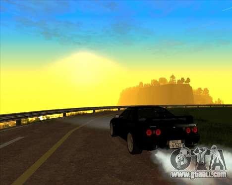Nissan Skyline GT-R BNR32 Initial D Legend 2 N.K for GTA San Andreas inner view