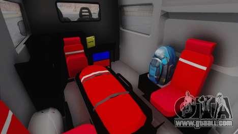 Fiat Ducato Turkish Ambulance for GTA San Andreas back view