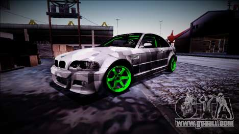 BMW M3 E46 Drift Monster Energy for GTA San Andreas inner view