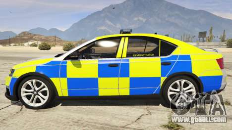 GTA 5 2014 Police Skoda Octavia VRS Hatchback left side view