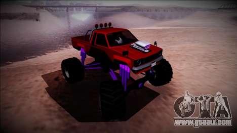 GTA 5 Karin Rebel Monster Truck for GTA San Andreas side view