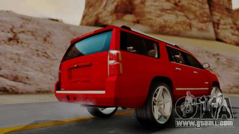Chevrolet Suburban 2015 LTZ for GTA San Andreas left view