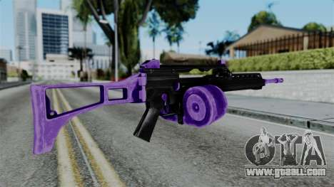 Purple M4 for GTA San Andreas second screenshot