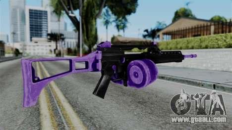 Purple M4 for GTA San Andreas second screenshot