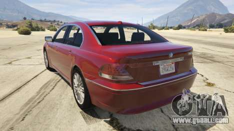 GTA 5 BMW 760i E65 rear left side view