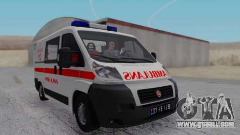 Fiat Ducato Turkish Ambulance for GTA San Andreas back left view