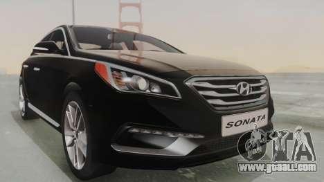 Hyundai Sonata Turbo 2.0 2015 V1.0 Final for GTA San Andreas right view