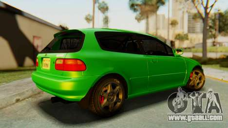 Honda Civic Vti 1994 V1.0 for GTA San Andreas left view