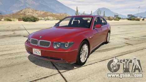 BMW 760i E65 for GTA 5