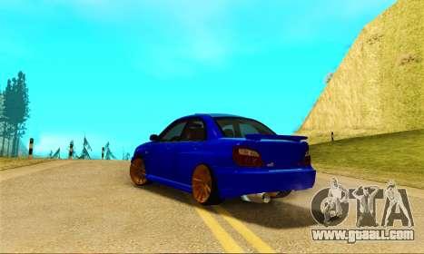 Subaru Impreza WRX STI Spec-C for GTA San Andreas back left view