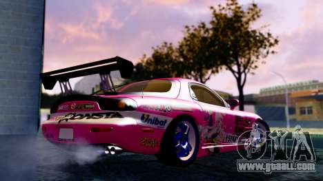 Mazda RX-7 Itasha for GTA San Andreas left view