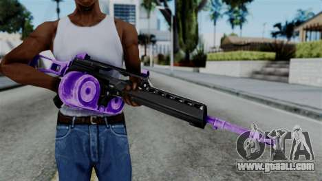 Purple M4 for GTA San Andreas third screenshot