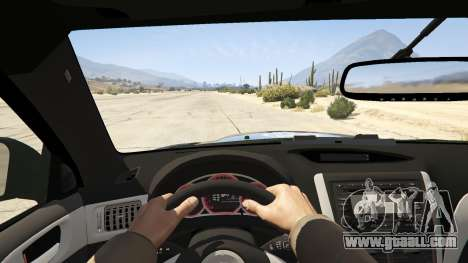 GTA 5 LAPD Subaru Impreza WRX STI back view