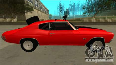 Chevrolet Chevelle Rusty Rebel for GTA San Andreas interior