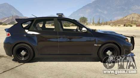 GTA 5 LAPD Subaru Impreza WRX STI left side view