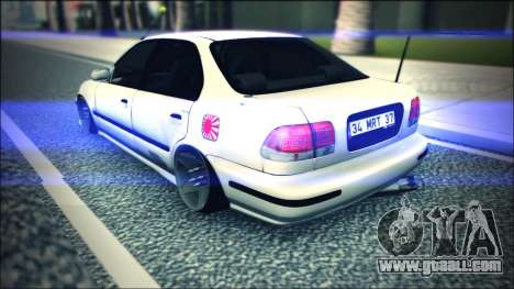 Honda Civic by Snebes for GTA San Andreas right view