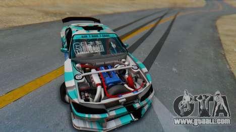 Nissan Silvia s15 Itasha [EDE-Crew] for GTA San Andreas inner view