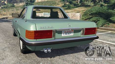 GTA 5 Mercedes-Benz 350 SL (R107) rear left side view
