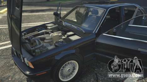 GTA 5 BMW 535i E34 front right side view