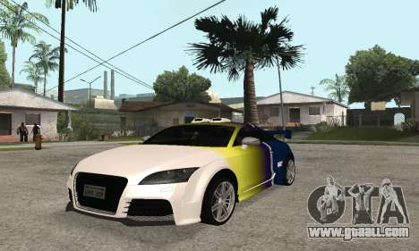 Audi TT-RS Tunable for GTA San Andreas side view