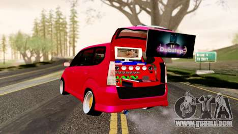 Toyota Avanza Best Modification for GTA San Andreas left view