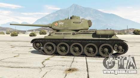 GTA 5 T-34-85 rear right side view