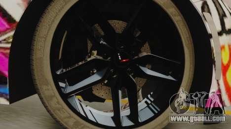Chevrolet Corvette Stingray C7 2014 Sticker Bomb for GTA San Andreas back left view