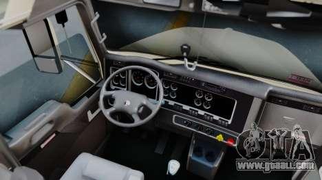Kenworth T800 38s Flat Top for GTA San Andreas inner view