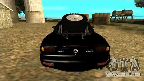 Mazda RX-7 Rusty Rebel for GTA San Andreas right view