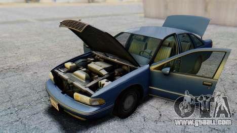 Chevrolet Caprice 1993 for GTA San Andreas inner view