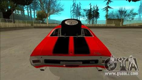 Chevrolet Chevelle Rusty Rebel for GTA San Andreas wheels